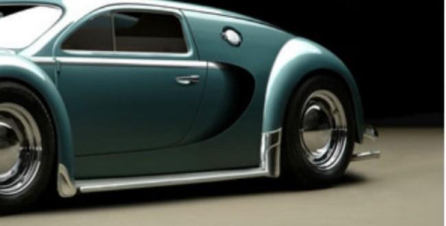 Un concept genial: Cum ar fi aratat Bugatti Veyron daca se lansa in 1945: FOTO